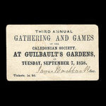 Canada, Guilbault's Gardens, 1 shilling, 3 pence <br /> 1858
