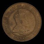 Canada, Edward VII, 1 cent <br /> 1909