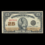 Canada, Dominion of Canada, 25 cents <br /> July 2, 1923