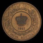 Canada, Province of Nova Scotia, 1/2 cent <br /> 1861