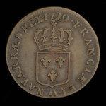 France, Louis XV, 1 sol <br /> 1720