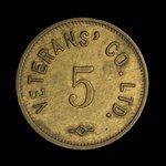 Canada, Veterans' Co. Ltd., 5 cents <br />
