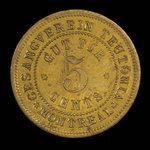 Canada, Gesangverein Teutonia, 5 cents <br /> 1888