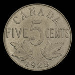 Canada, George V, 5 cents <br /> 1928