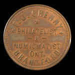 Canada, F.J. Grenny, 50 cents <br /> 1895