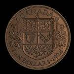 Canada, George V, 10 dollars <br /> 1928