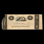 Canada, Bank of Montreal, 5 dollars <br /> 1830