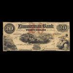 Canada, Zimmerman Bank, 20 dollars <br /> December 1856