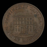 Canada, Bank of Montreal, 1/2 penny <br /> 1842