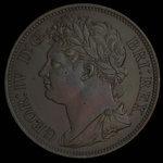Great Britain, George IV, 1/50 dollar <br /> 1823