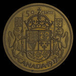 Canada, George VI, 50 cents <br /> 1937