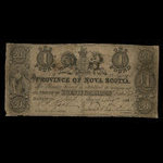 Canada, Province of Nova Scotia, 1 pound <br /> May 1, 1848