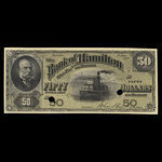 Canada, Bank of Hamilton, 50 dollars <br /> June 1, 1892