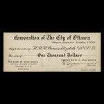 Canada, City of Ottawa, 1,000 dollars <br /> October 4, 1951