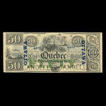 Canada, Quebec Bank, 50 dollars <br /> 1863