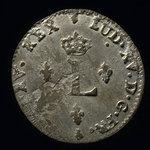 France, Louis XV, 2 sous <br /> 1763