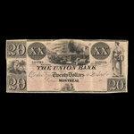 Canada, Union Bank, 20 dollars <br /> 1840