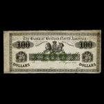 Canada, Bank of British North America, 100 dollars <br /> July 15, 1861