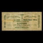 Canada, L. Julien, no denomination <br /> 1887