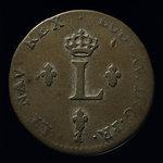 France, Louis XV, 2 sous <br /> 1757