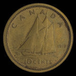 Canada, George VI, 10 cents <br /> 1937