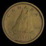 Canada, George VI, 10 cents <br /> 1937