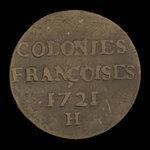 France, Louis XV, 9 deniers <br /> 1721