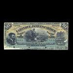 Canada, Banque Jacques-Cartier, 10 piastres <br /> June 1, 1889
