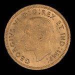 Canada, George VI, 1 cent <br /> 1938
