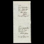Canada, Hudson's Bay Company, 50 pounds <br /> July 27, 1888