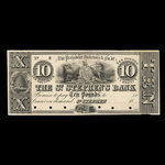 Canada, St. Stephen's Bank, 10 pounds <br /> 1837