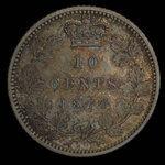 Canada, Victoria, 10 cents <br /> 1870
