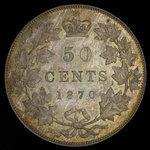 Canada, Victoria, 50 cents <br /> 1870