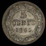 Canada, Victoria, 5 cents <br /> 1865