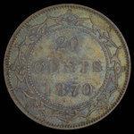 Canada, Victoria, 20 cents <br /> 1870