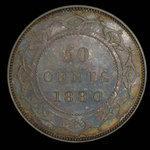 Canada, Victoria, 50 cents <br /> 1880