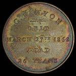 Canada, unknown, no denomination <br /> 1862