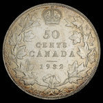 Canada, George V, 50 cents <br /> 1932