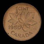 Canada, George VI, 1 cent <br /> 1950