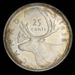 Canada, George VI, 25 cents <br /> 1938