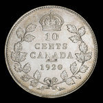 Canada, George V, 10 cents <br /> 1920