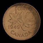 Canada, George VI, 1 cent <br /> 1949