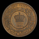 Canada, Province of Nova Scotia, 1 cent <br /> 1861