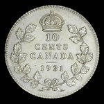 Canada, George V, 10 cents <br /> 1931