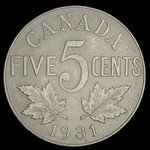 Canada, George V, 5 cents <br /> 1931