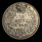 Canada, Victoria, 20 cents <br /> 1858