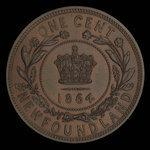 Canada, Victoria, 1 cent <br /> 1864