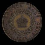 Canada, Victoria, 1/2 cent <br /> 1861