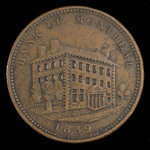 Canada, Bank of Montreal, 1 penny <br /> 1839