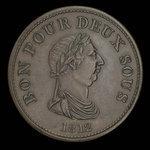 Canada, unknown, 1 penny <br /> 1812